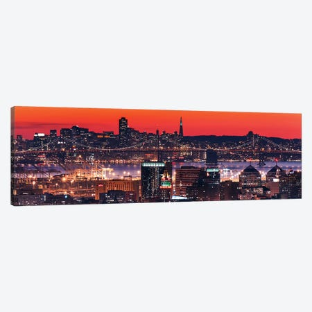 Oakland SF Twilight Canvas Print #ICS347} by Greg Linhares Canvas Art
