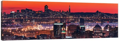 Oakland SF Twilight Canvas Art Print
