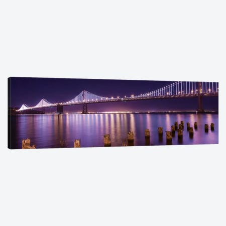 The Bay Lights Canvas Print #ICS348} by Greg Linhares Canvas Art Print