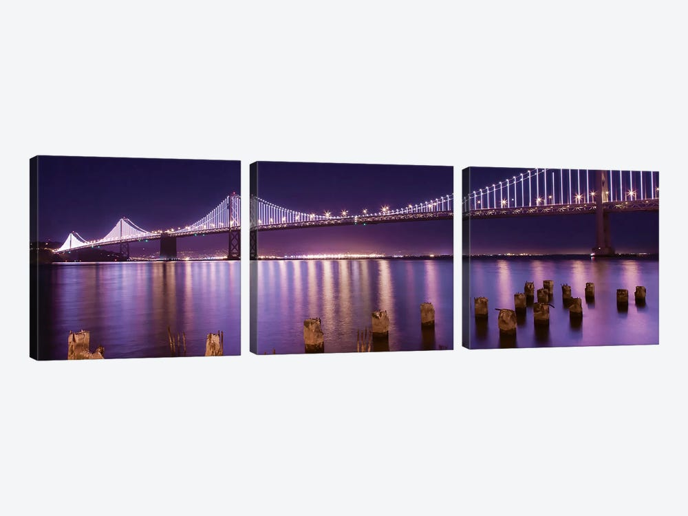 The Bay Lights by Greg Linhares 3-piece Canvas Artwork