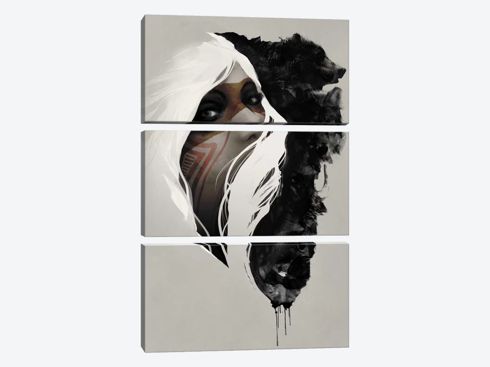 Totem by Jeff Langevin 3-piece Canvas Wall Art