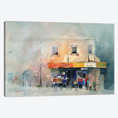 Corner Store Canvas Print #ICS359} by John Lovett Canvas Artwork