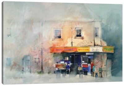 Corner Store Canvas Art Print