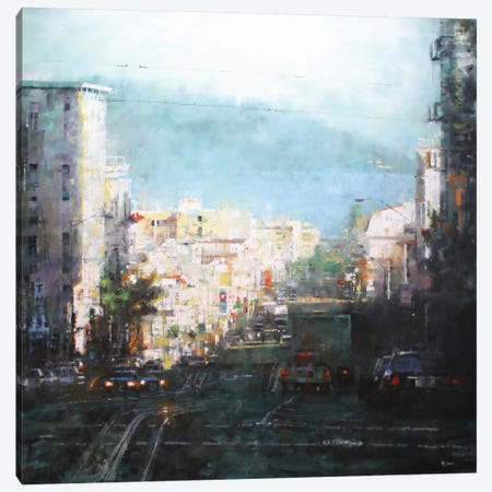 Bay Mist Canvas Print #ICS360} by Mark Lague Art Print