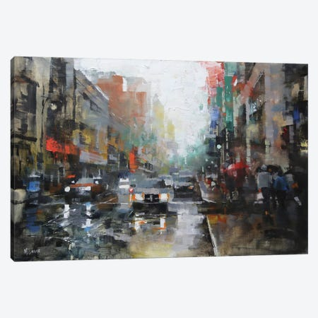 Montreal Rain Canvas Print #ICS361} by Mark Lague Art Print