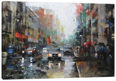 Montreal Rain Canvas Art Print