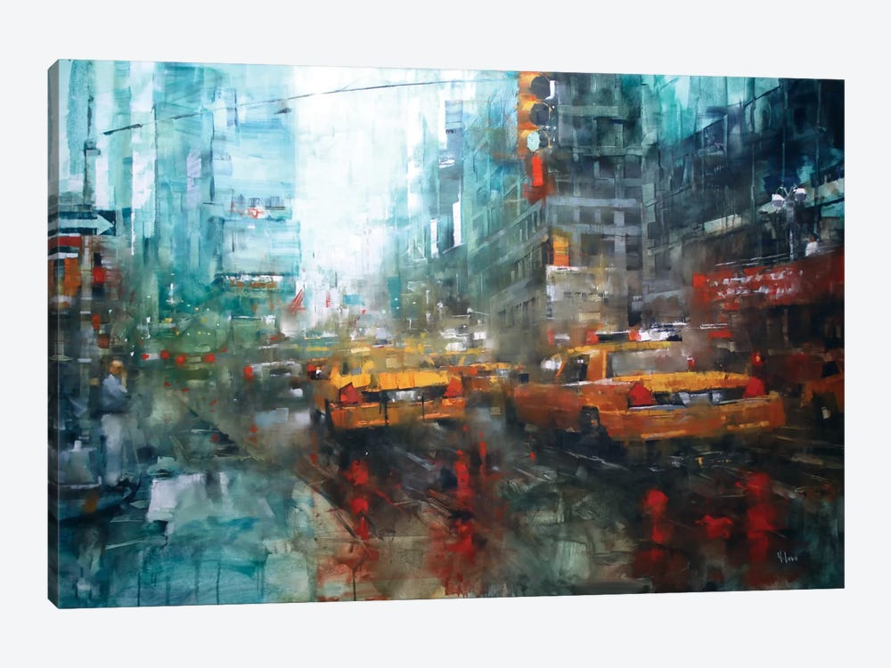 Times Square Reflections by Mark Lague 1-piece Canvas Art