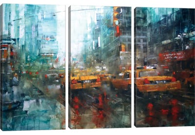Times Square Reflections Canvas Art Print
