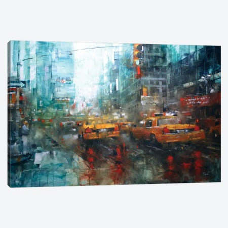 Times Square Reflections Canvas Print #ICS362} by Mark Lague Art Print