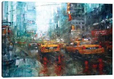 Times Square Reflections by Mark Lague Art Print
