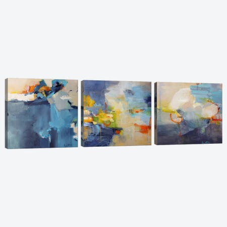 Dizzy, Restless Clouds Triptych Canvas Print Set #ICS3HSET003} by Lina Alattar Art Print