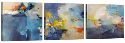 Dizzy, Restless Clouds Triptych Canvas Art Print