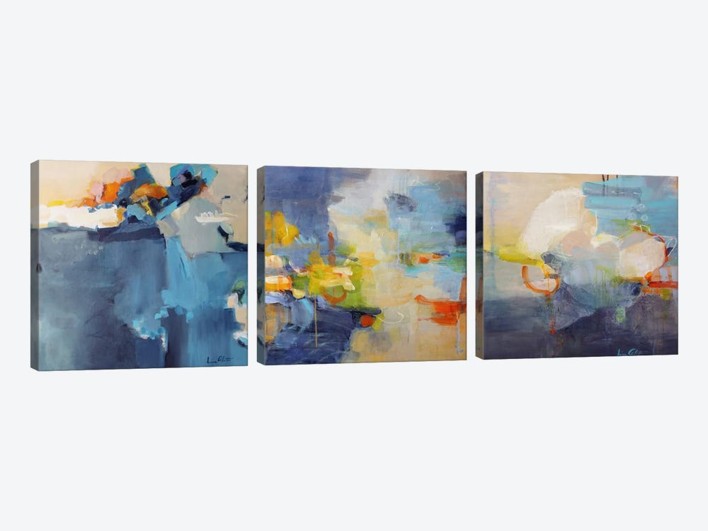 Dizzy Restless Clouds Triptych Canvas Print By Lina Alattar Icanvas