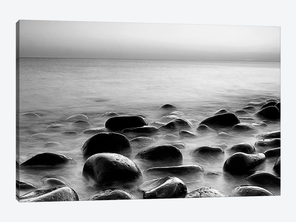 Rocks in Mist 3 by PhotoINC Studio 1-piece Canvas Art