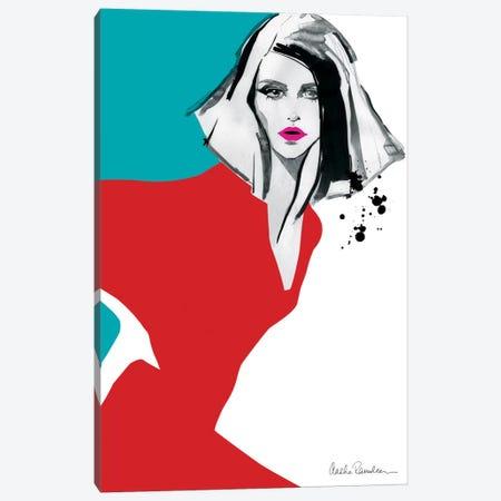Red Dress Canvas Print #ICS443} by Aasha Ramdeen Canvas Art