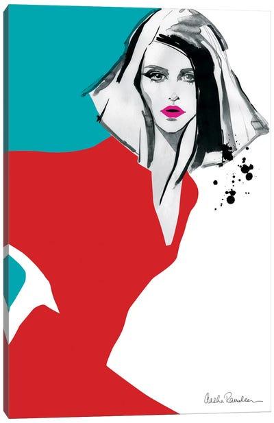 Red Dress Canvas Print #ICS443