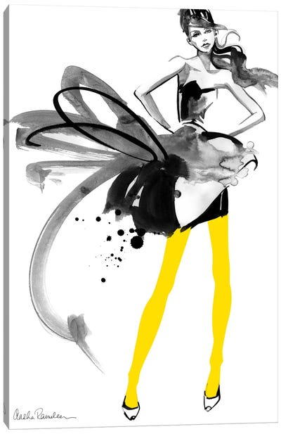 Yellow Tights Canvas Art Print