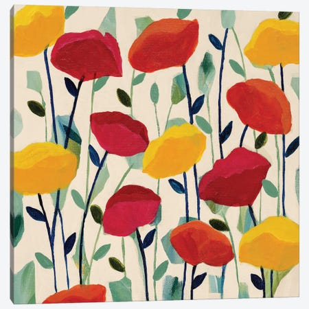 Cheerful Poppies Canvas Print #ICS450} by Carrie Schmitt Art Print
