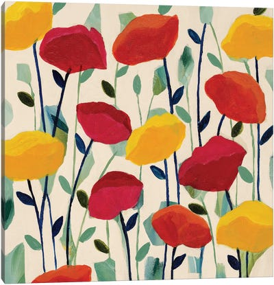 Cheerful Poppies Canvas Print #ICS450