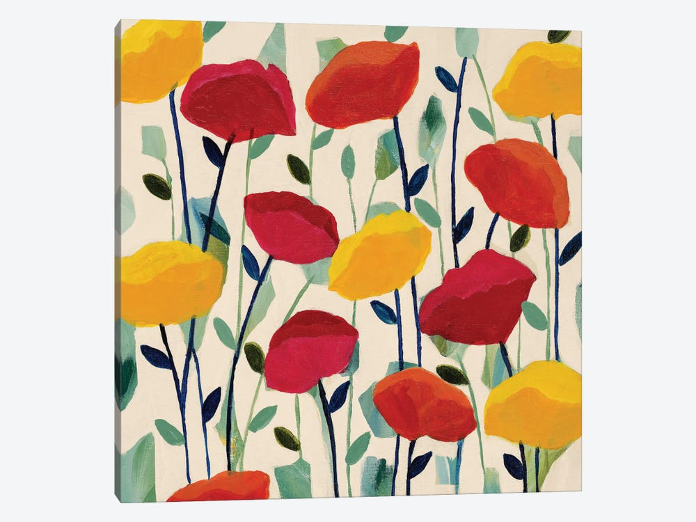 Cheerful Poppies by Carrie Schmitt 1-piece Canvas Artwork