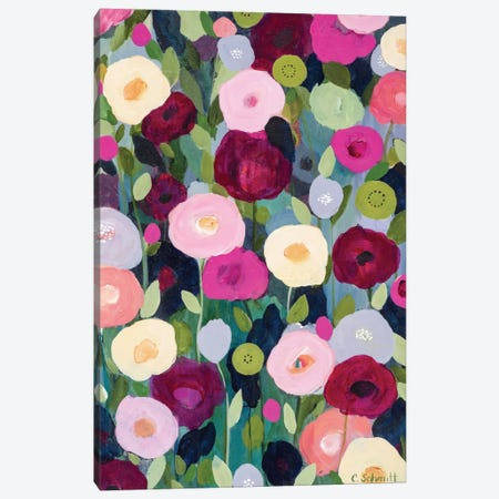 Night Garden Canvas Print #ICS452} by Carrie Schmitt Canvas Print