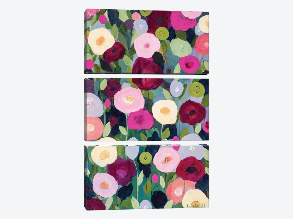 Night Garden by Carrie Schmitt 3-piece Canvas Wall Art