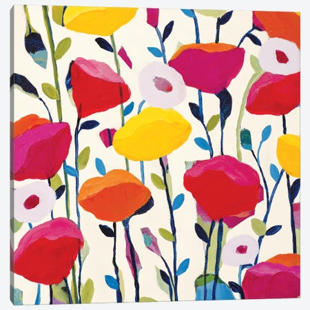 Bursting Poppies Canvas Print #ICS454} by Carrie Schmitt Canvas Artwork