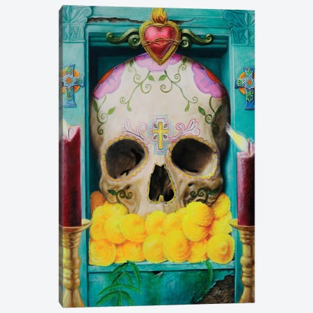 Calavera Canvas Print #ICS475} by Robert Valadez Canvas Art