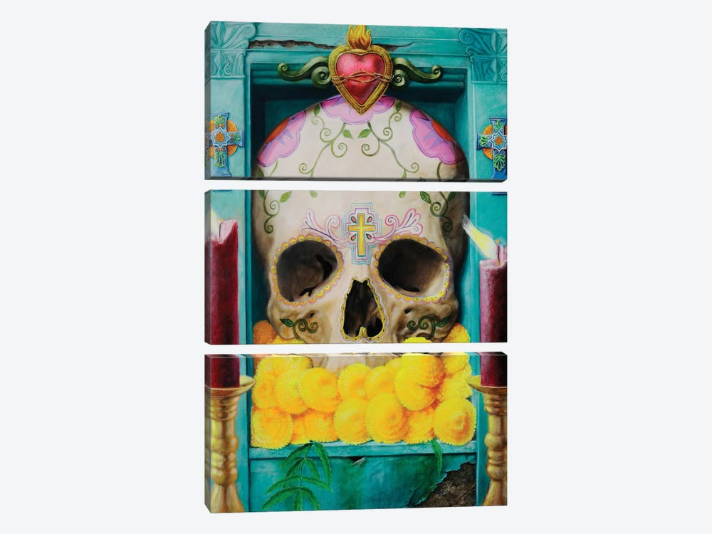Calavera by Robert Valadez 3-piece Canvas Art Print