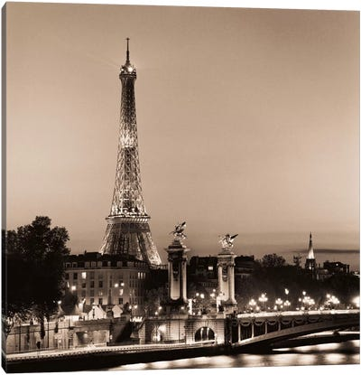 Pont Alexandre III by Alan Blaustein Canvas Wall Art