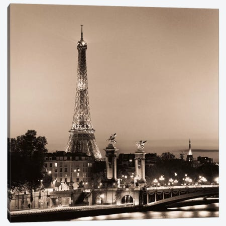 Pont Alexandre III Canvas Print #ICS47} by Alan Blaustein Canvas Wall Art