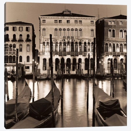 Il Gran Canale di Notte Canvas Print #ICS48} by Alan Blaustein Canvas Art Print