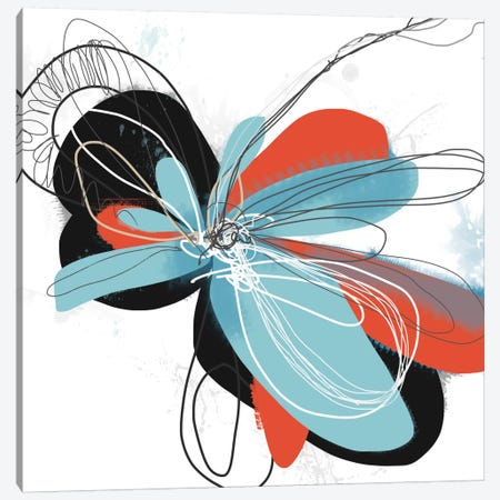 The Flower Dances I Canvas Print #ICS494} by Jan Weiss Canvas Wall Art