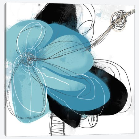 Azul Poetry I Canvas Print #ICS495} by Jan Weiss Canvas Wall Art