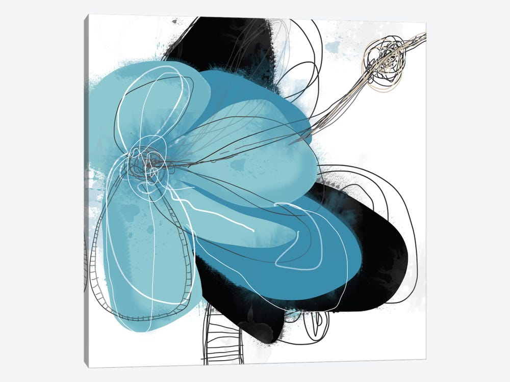Azul Poetry I by Jan Weiss 1-piece Art Print