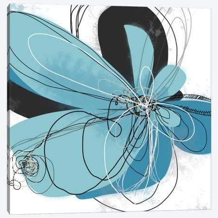 Azul Poetry II Canvas Print #ICS496} by Jan Weiss Canvas Artwork