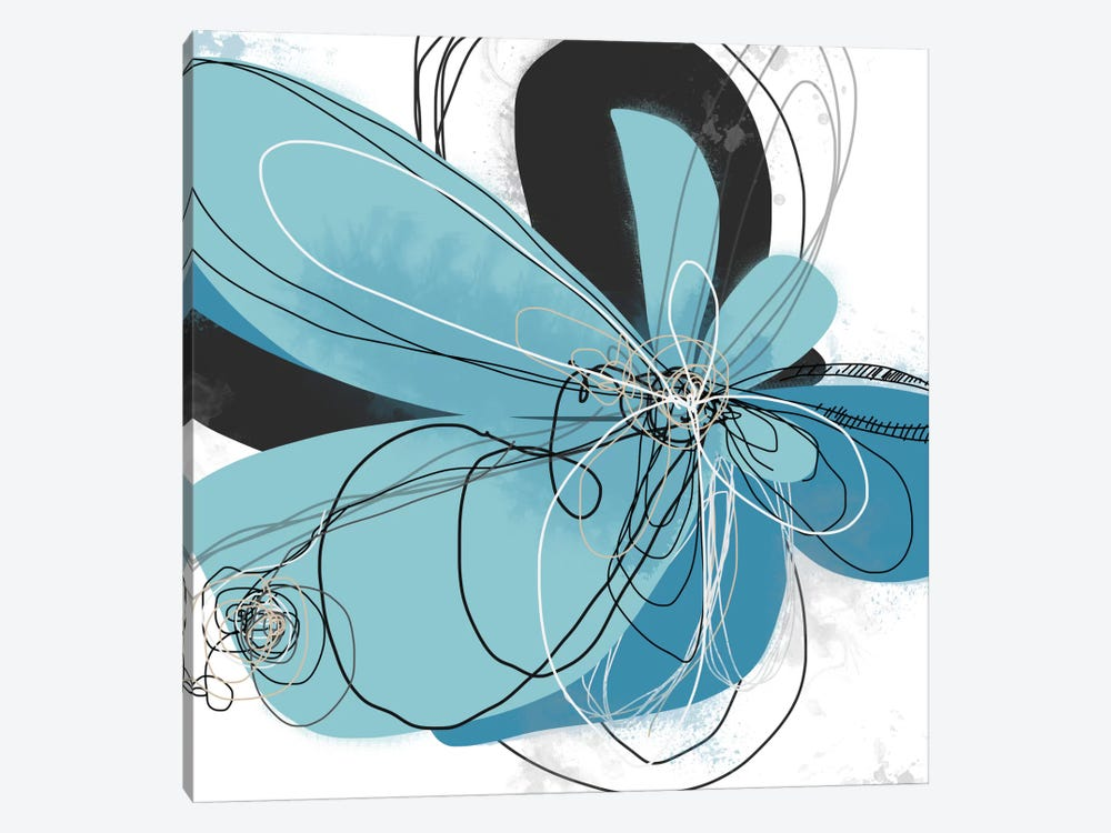 Azul Poetry II by Jan Weiss 1-piece Canvas Art