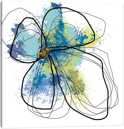 Azure Petals I Canvas Print #ICS497