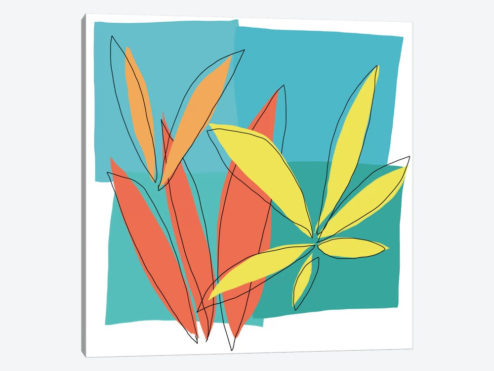 Grasses I by Jan Weiss 1-piece Canvas Print