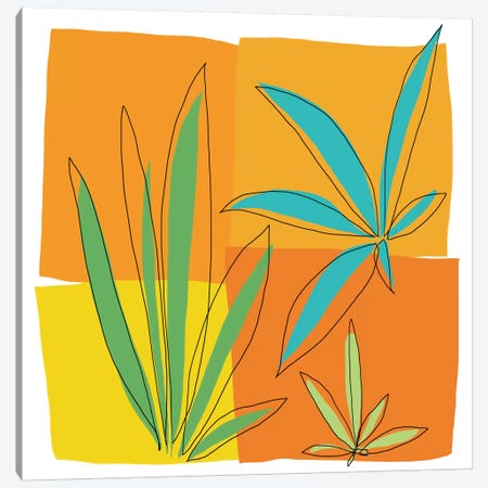 Grasses II Canvas Print #ICS500} by Jan Weiss Art Print