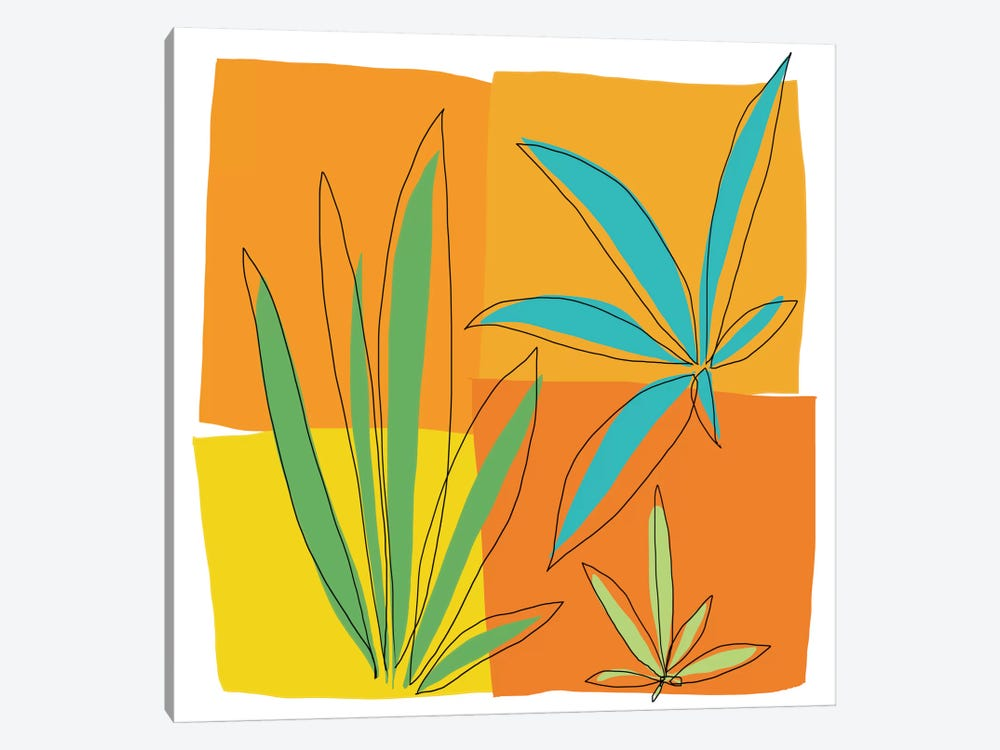 Grasses II by Jan Weiss 1-piece Canvas Art
