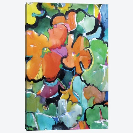 Nasturtiums Canvas Print #ICS503} by Emily Weil Canvas Art Print