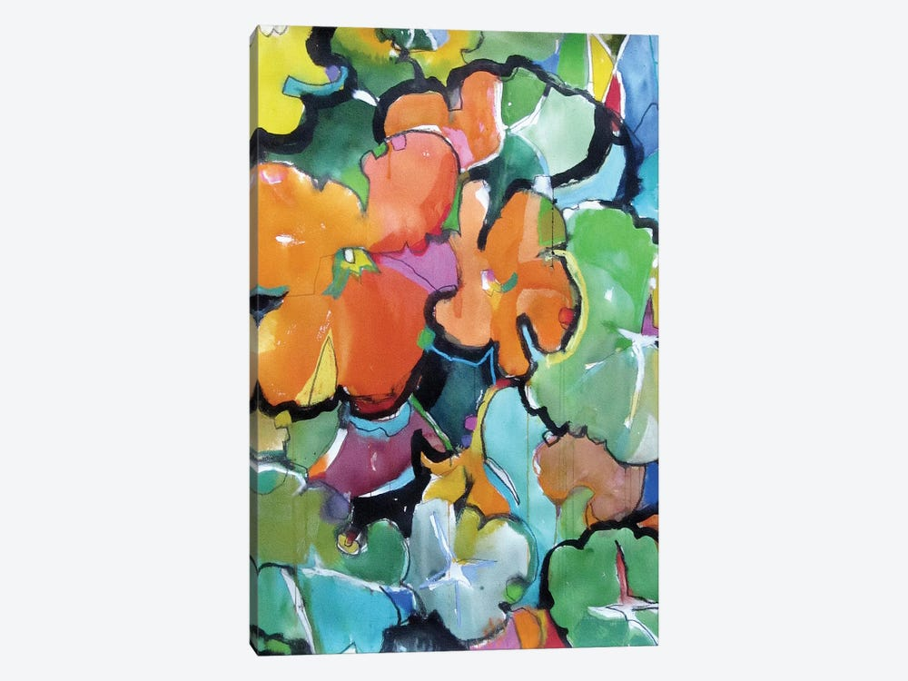 Nasturtiums by Emily Weil 1-piece Canvas Print