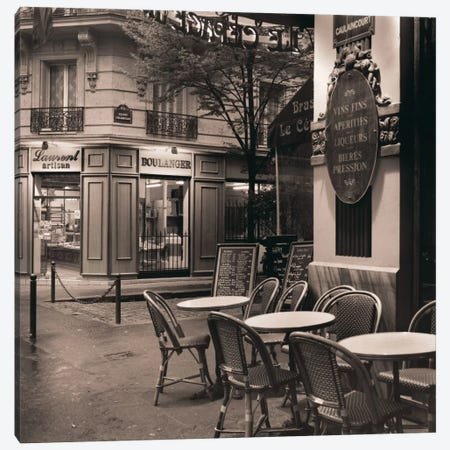 Café, Montmartre Canvas Print #ICS50} by Alan Blaustein Canvas Wall Art