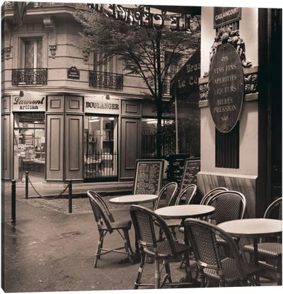 Café, Montmartre Canvas Art Print