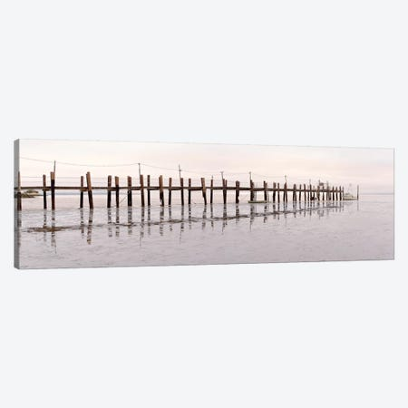 Vintage Pier At Fishing Village Canvas Print #ICS515} by Alan Blaustein Canvas Art Print