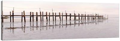 Vintage Pier At Fishing Village Canvas Print #ICS515