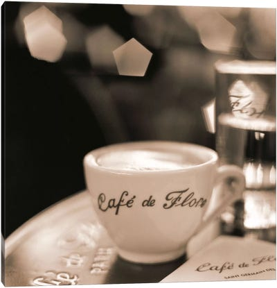 Café, St. Germain des Pres Canvas Art Print