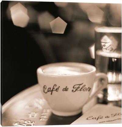 Café, St. Germain des Pres Canvas Art Print
