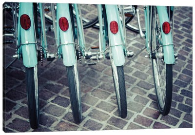 Bicycle Line Up I Canvas Art Print